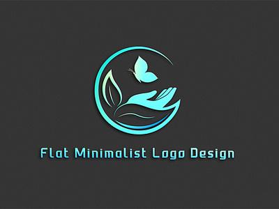 Flat minimalist logo design graphic design illustrator illustration icon vector minimal design logo design flat logo