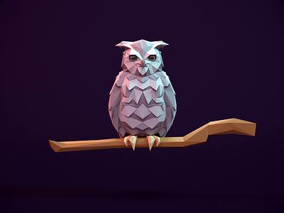Owl - Infinite Skater owl autodesk maya 3d art 3d animation rigged redshift3d lowpolyart lowpoly3d lowpoly game art character animation animation