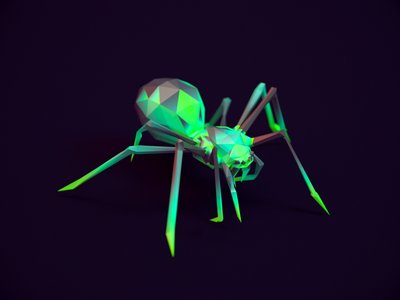 Spider - Infinite Skater cg 3d render character design cycle spider 3d art 3d animation rigged redshift3d lowpolyart lowpoly3d lowpoly game art character animation animation