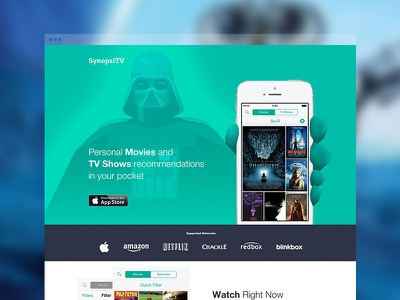 Promo page app synopsi discover movie tv show darth vader app promo