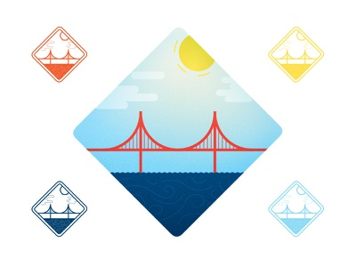 BTS to SFO pexeso golden gate bridge san francisco trip badge