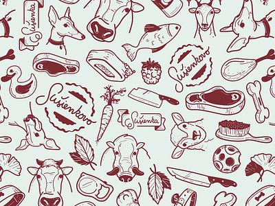 Susienkovo Pattern susienkovo pattern dog food treads meat bio xmass