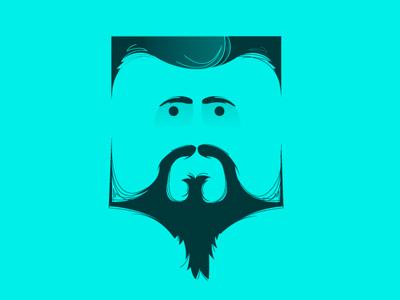 Cube Face face illustration cube beard eyes vector portrait