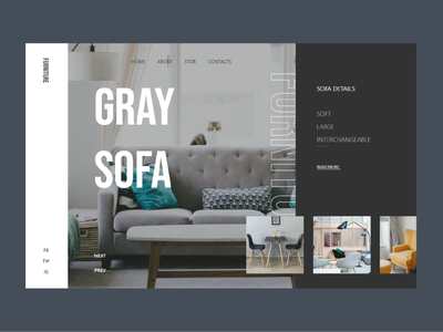 Furniture Website UI design adobe gray sofa sofa rating ecommerce furniture website adobe xd ux uiux illustration app ui design designer brand brand design design ui