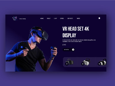 VR Web UI design blue web ui clean vr design vr head set ecommerce design ecommerce vr web typography ux vector branding ui design brand brand design design ui