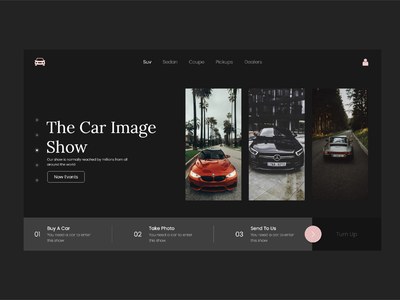 Car Website UI design photo ecommerce travel image black tutorial car ui car logo uiux designs app ux designer brand ui design brand design design ui