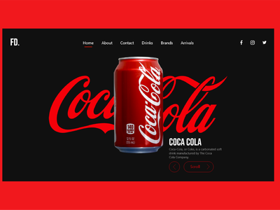 FD. Coca Cola web UI design drink red black coca cola ui coca-cola illustration ux design designs typography designer branding logo brand design design ui