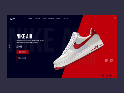 Nike Air UI design red sheo ui black blue ari ui design nike air nike ui nike ecommerce design ecommerce illustration ux uiux designs brand vector designer ui design brand design design