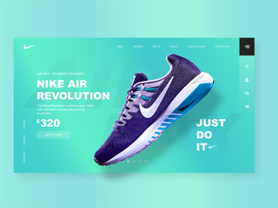Revamp UI Design nike ui nike air nike sb revamp ecommerce blue green ecommerce app ecommerce design eco ux uiux logo typography designs ui ui design illustration app design
