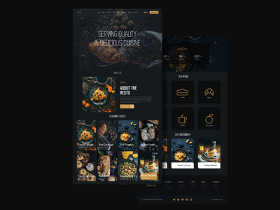 Restaurant website Homepage design black dark homepage design webdesign website builder website web app brand uiux ux logo designs ui ui design brand design design