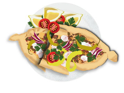 Web food illustration - Greek cuisine foodillustration food illustration adobe illustrator vector art pita fresh dish menu food artwork drawing digital art restaurantbusiness appdesign graphicdesign webdesign restaurant illustration
