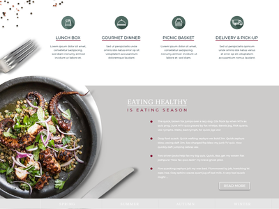 Webdesign - landing page for restaurant contact page offer banner uxui landing page design gastronomy icon design offer online offer food book a table menu adobe xd website restaurant webdesign
