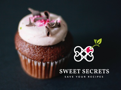 Logo design - recipe app pastry cake brand recipe book recipe app sweets food logomark branding logo logodesign graphicdesign