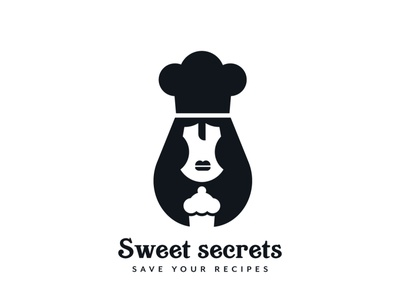 Recipe app logo design branding design recipe recipe app pastry cakes sweets food brand branding graphicdesign illustration logomark logodesign logo