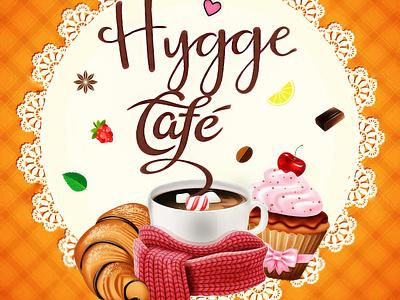 Hygge Cafe Logo icon typography vector design logo