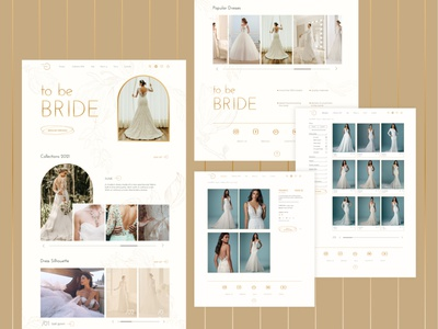 website of wedding dresses web design