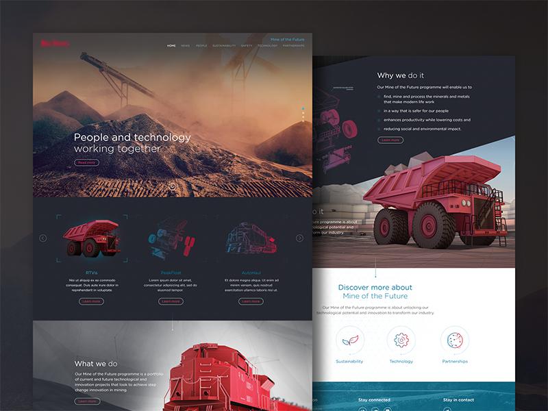 Interactive Webdesign & UI rad 420 desktop mining responsive tablet mobile ux ui webdesign
