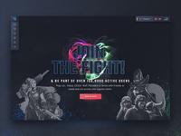eSports Gaming Plattform - Teaser Landing Page
