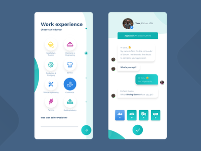 Chat & Form UI - White