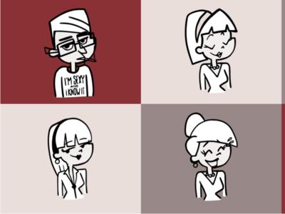Retroooo Folks! design doodling character cartoon adobedraw vector drawing doodle illustration illustrator