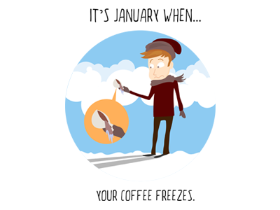 January Icon illustrator icons