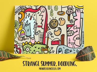 Strange Summer. Doodling. flat doodling doodle ipad illustration vector adobe draw illustrator