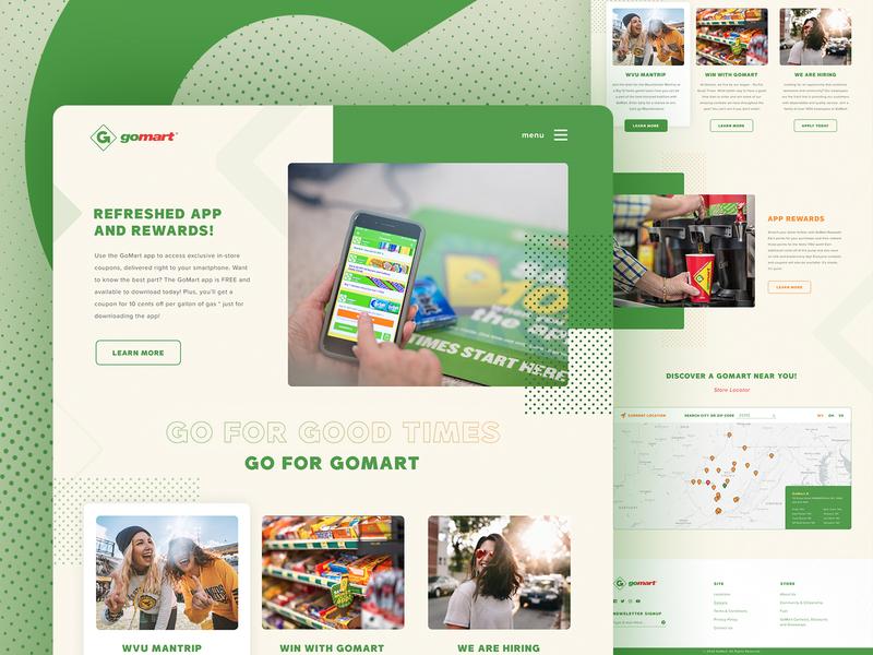 Convenience Store - Landing Page shopping store design travel homepage branding website ux web design web ui shop store