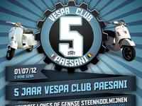 5th anniversary Vespa Club Paesani