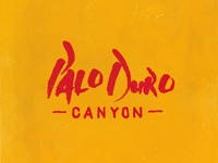 Palo Duro Canyon Lettering