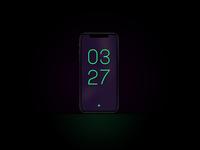 Minimal UI Alarm Clock