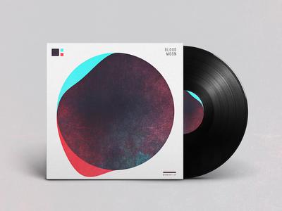 Blood Moon Album Art typography record art music branding graphic design abstract album art vinyl
