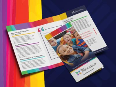 The Pencil Box Brochure vector marketing branding tri fold colors brochure graphic design