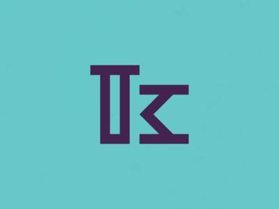 K. Theriot Photography Logo logomark monogram marketing branding k logo
