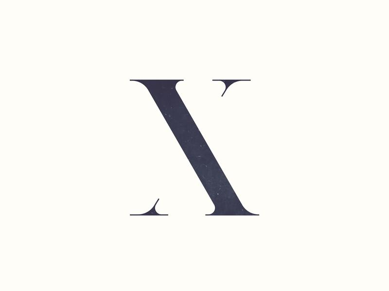 X Logo font vector type icon lettering abstract typography identity marketing design oklahoma graphic design illustration logo branding
