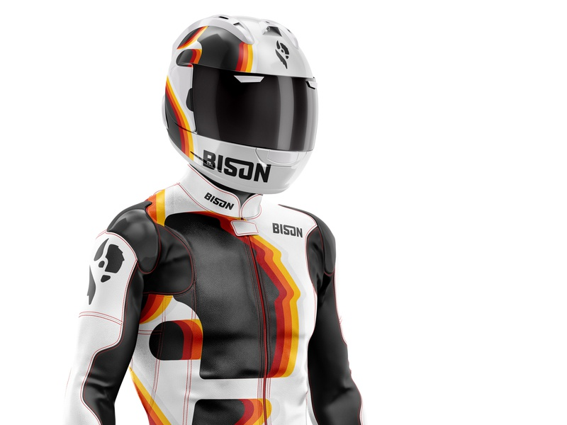 Bison Team Rider motorcycle motogp racing design oklahoma graphic design illustration logo branding