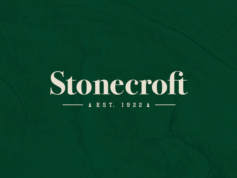 Stonecroft Logo type typography identity marketing design graphic design logo branding