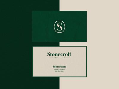 Stonecroft Business Cards ligature logomark business cards branding logo identity design