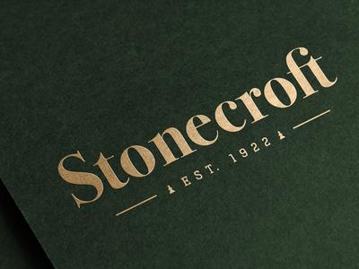 Stonecroft logotype mock-up identity branding logo wordmark logotype ligature