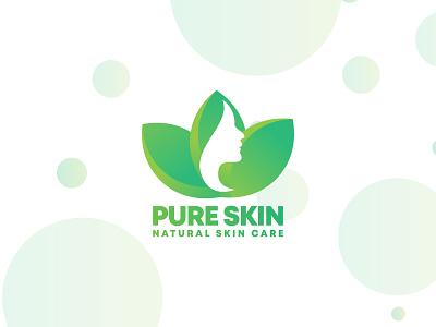 Purr Skin | Modern logo lady women girl natural skincare skin modern gradient logo creative logo modern logo branding brand design logo designer logo design logo