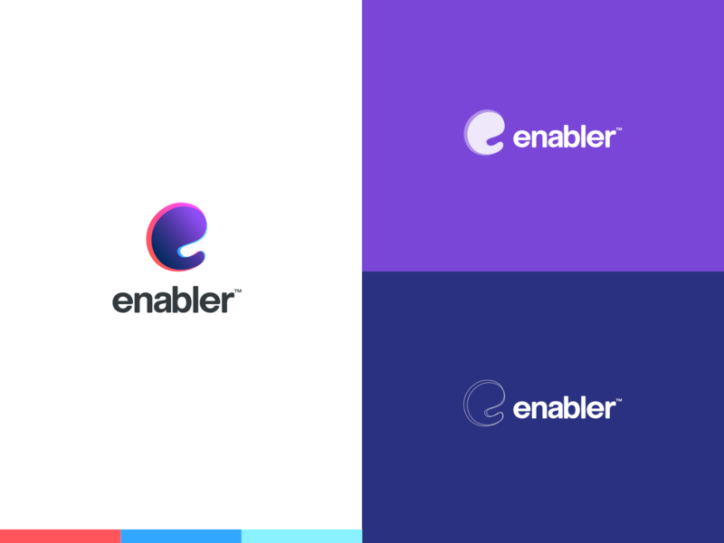 Enabler - Empowering your dreams branding concept colors icon minimal branding design logodesign ui logo creative clean branding