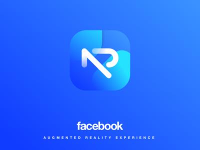 Facebook AR concept logo and App icon branding augmentedreality ar app logo facebook