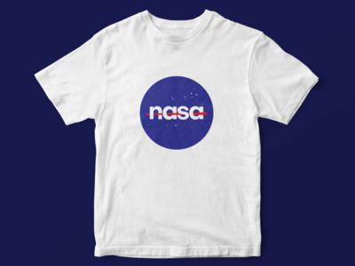 NASA logo new look branding design tshirt redesign logo nasa