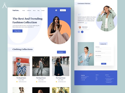 Fashion Web Design Concept figmadesign figma ui design fashion webpage ui design fashion webpage ui design uiux uidesign ui  ux design website web typography ux ui design