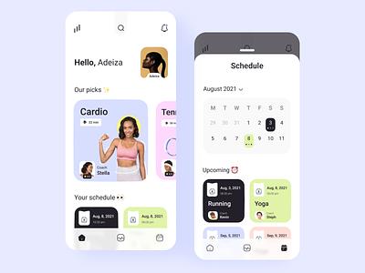 Fitness & Sport App icon flat branding fitness app 3d fitness  sport app mobile app animation ios mobile app design app user graphic design ux design uiux ui design design ux ui