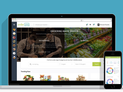 OrderVan Web and mobile