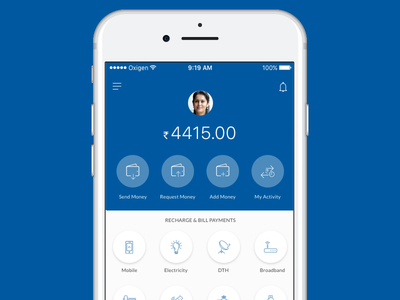 Payment App - Wallet icons send redesign product mobile user-interface user-experience wallet paytm ui paypal payment