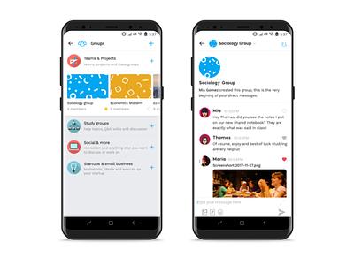 ambi chat - wip massage group chat ambi ux ui flow education design app