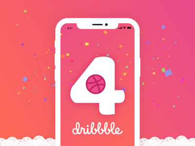 4 Dribbble invites opportunity 4x icon vector logo illustration icons design ux ui four number dribbble invitation invite friends invite team connect