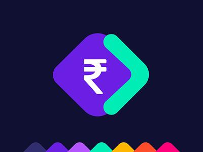 RupiFi - Line of Credit for Self Employed Icon Design app flat icon illustration money logo rupee flat logo trending logo typography vector logo branding