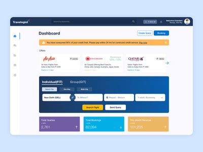 Travel Agent Booking System - Travelogist dashboard travelogist travelogist agency forms flow clean booking system dashboard flight calendar booking interface design ui ux